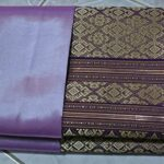 Thai-Tradition-Purple-Gold-Thailand-Silk-Fabric-for-Top-Shirt-Skirt-Dress-Se85-0