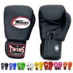 Twins-Special-Gloves-Velcro-BGVL-3-Color-Black-Blue-Red-White-Pink-Green-Orange-Yellow-Size-8-10-12-14-16-18-oz-for-Training-and-Sparring-Muay-Thai-Boxing-Kickboxing-MMA-Black16-oz-0