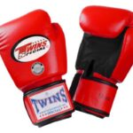 Twins-Special-Muay-Thai-Boxing-Gloves-Dual-Color-Premium-Leather-w-Velcro-RedBlack-16oz-0