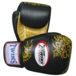 Twins-Special-Muay-Thai-Boxing-Gloves-FBGV-6G-BK-Black-Gold-Dragon-8-10-12-14-16-Oz.-16-Oz-0
