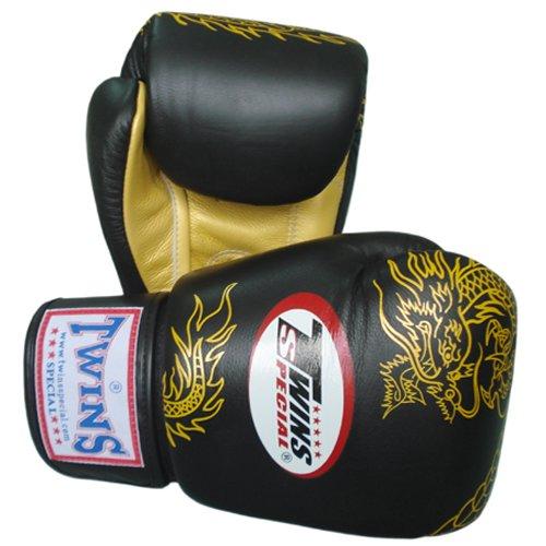 Shiv Naresh Teens Boxing Gloves 12oz: Twins Special Muay Thai Boxing Gloves FBGV-6G-BK Black